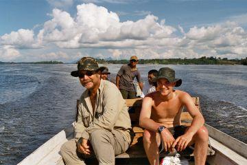 Peter Rohmer mit seinem Rio-Negro-Erkundungsteam