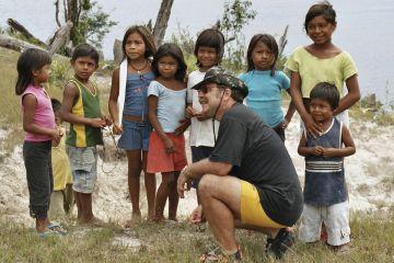 Netter Plausch mit den Kindern des Indio-Dorfs